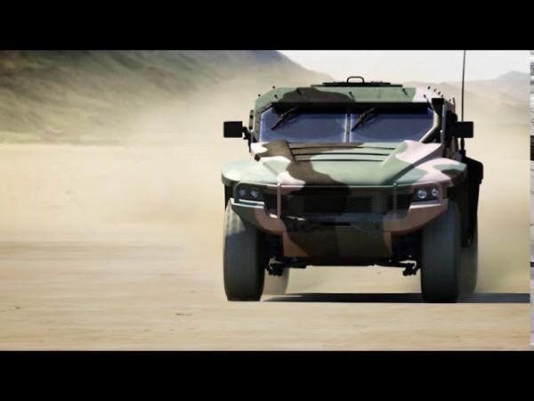 Thales Military Vehicle Driving